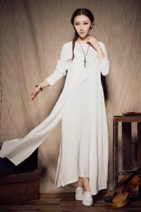 Maxi Linen Dress In White, White Dress, Bridesmaid Dress ...