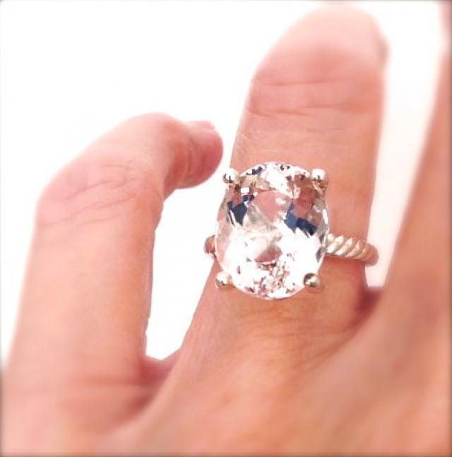5 Carat Morganite Rose Gold Engagement Ring 14k 2398516