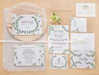 Floral Wedding Invitation Set. Hand Painted, Handwritten ...
