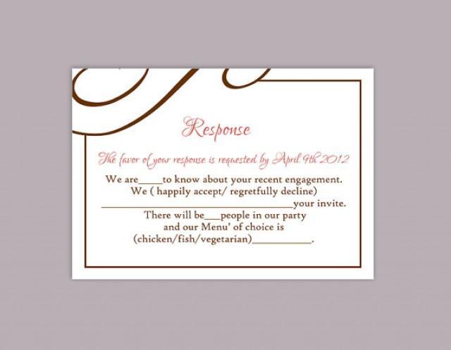 wedding rsvp card template free