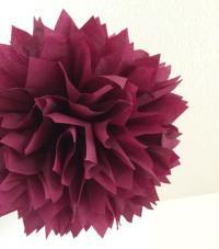 SANGRIA / 1 Tissue Paper Pom Pom / Wedding Decorations ...