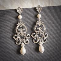 FABIONA, Victorian Style Chandelier Wedding Earrings ...