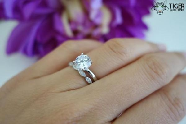 SALE 15 Carat Art Deco Round Solitaire Wedding Set Man