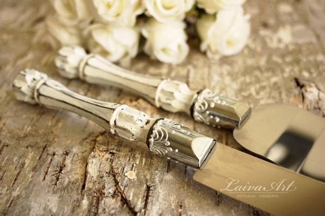 Fall Wedding Knife And Cake Server Set