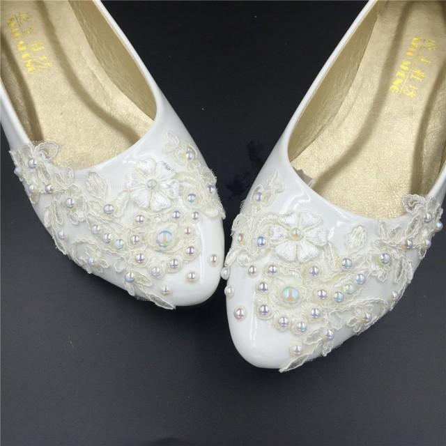 Flat Wedding ShoesLace Bridal Flat ShoesIvory Bridal