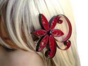 red hair accessory punch wedding