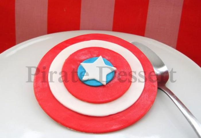 Captain America Edible Cake Topper Avengers Edible Superhero