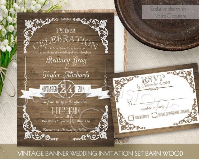 Country Wedding Stationery