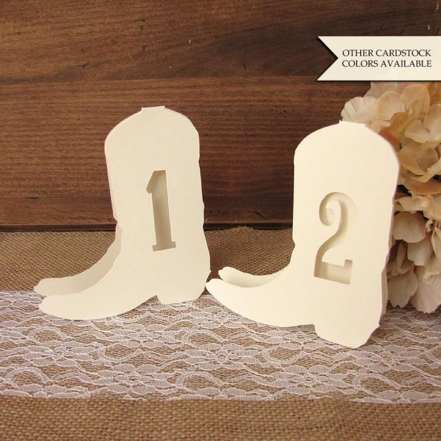 Country Wedding Table Numbers  Western Wedding Decor