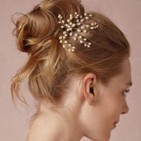 Bridal Hair Pin, Spray Pearl Freshwater, Gold Or Silver ...