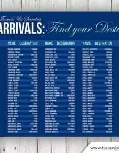 Wedding seating chart rush service arrivals airport travel theme reception poster digital printable file hc also rh weddbook