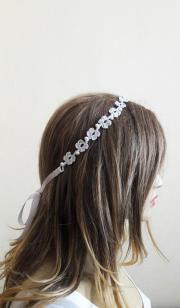 crochet headband wedding accessory