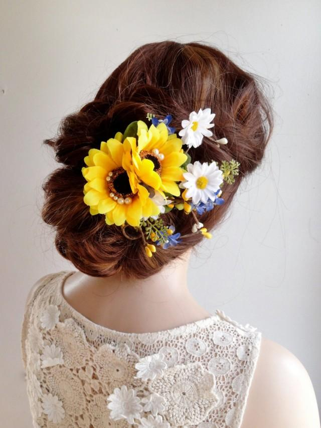 Sunflower Hair Clip Sunflower Hair Comb Daisy Hair Clip