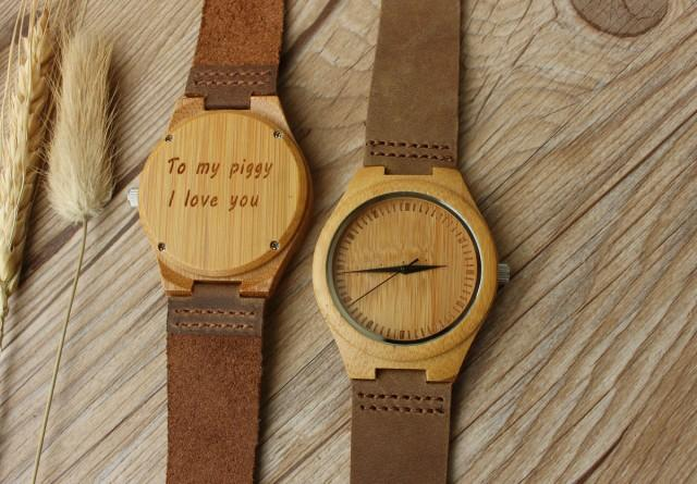 romantic gift wooden watch