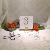 25 Large Wire Infinity Bow Table Number Holders, Black ...