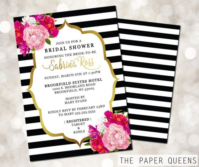 Bridal Shower Wedding Invitation Printable Invitation