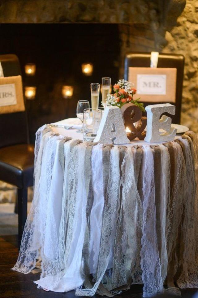 Wedding Theme Lace And Burlap Garland 2527908 Weddbook
