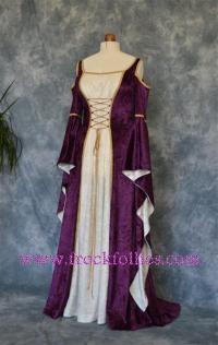 Medieval Gown, Elvish Wedding Gown, Handfasting Dress ...
