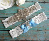 Elegant Rhinestone Beach Wedding Garter / Starfish/ Beach