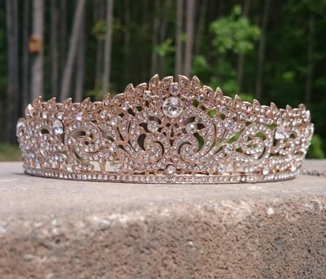 Bridal Tiara Rose Gold Tiara Rose Gold Wedding Tiara