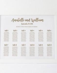 Wedding seating chart template plan floral poster editable table card edit in word weddbook also rh