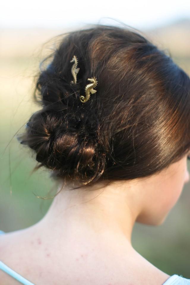 Seahorse Hair Pins Gold Seahorse Hair Clips Sea Horse