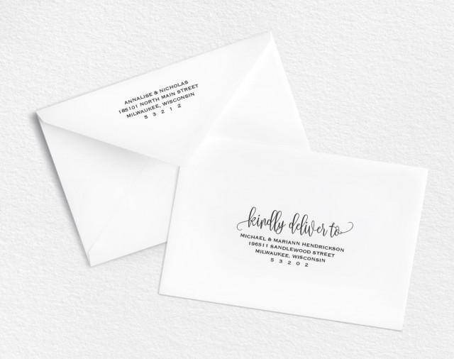 Envelope Template, Printable Envelope, Wedding Envelope