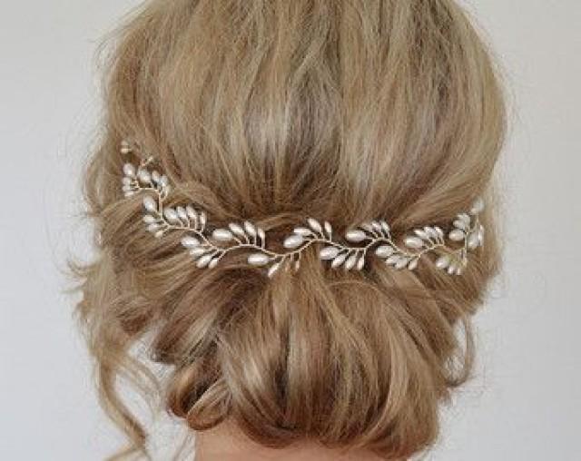 Bridal Headpiece Bridal Pearl Comb Wedding Hair Piece Pearl