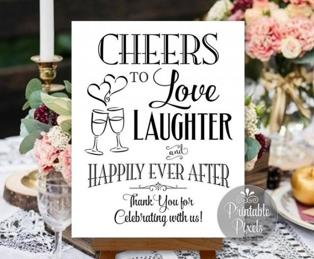 Download Cheers To Love Laughter And Happily Ever After Printable ...