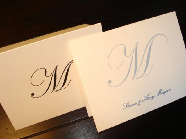 80 Personalized Note Cards, Custom Thank You Notes, Blank