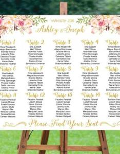 Wedding seating chart printable board templatewedding plangold foil also rh dedbook