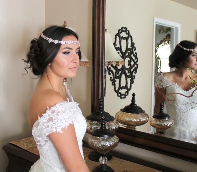 Bridal Forehead Band Bridal Tiara Wedding Headpiece