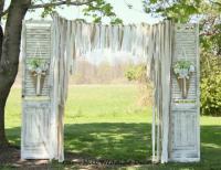 Wedding Curtains Backdrop Lace Wedding Garland Burlap ...