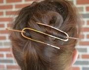 hair slide - copper bun