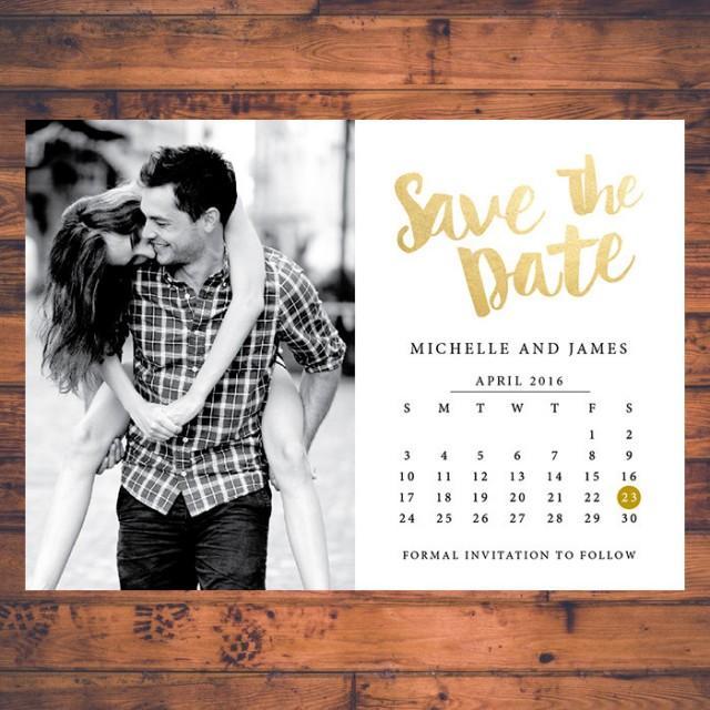 Save Date Wedding Calendar