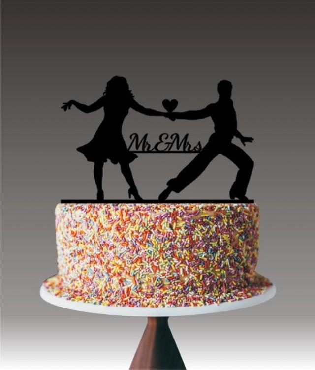 Unique Wedding Cake Topper Dancing Couple Mr And Mrs Cake