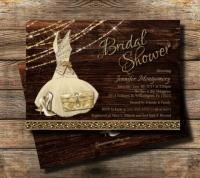 Country Bridal Shower Invitation / Rustic Theme / Rustic ...