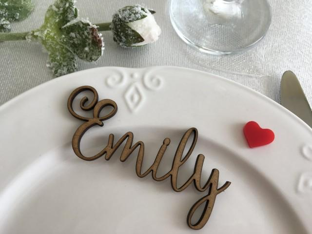 Wooden Laser Cut Names Wedding Table Place Custom Name