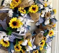 Weekend FLASH SALE Sunflower Wreath, Summer, Front Door ...