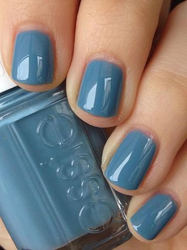 Blue Grey Nail Polish : polish, Makeup, Polish, #2804508, Weddbook
