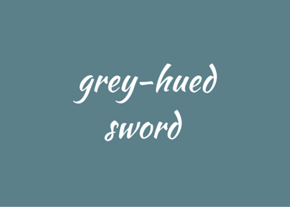 Beowulf Crossley-Holland grey-hued sword
