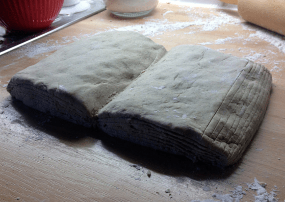 Launch loaf! Bread baked to look like an open book with ribbon book marker