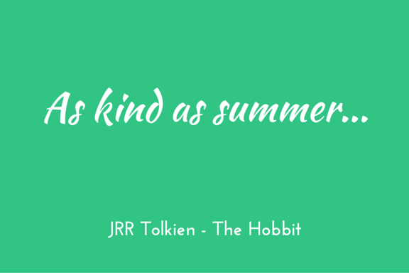 Tolkien Hobbit kindness quote