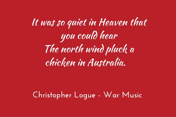 Christopher Logue - Homer - War Music - metaphor