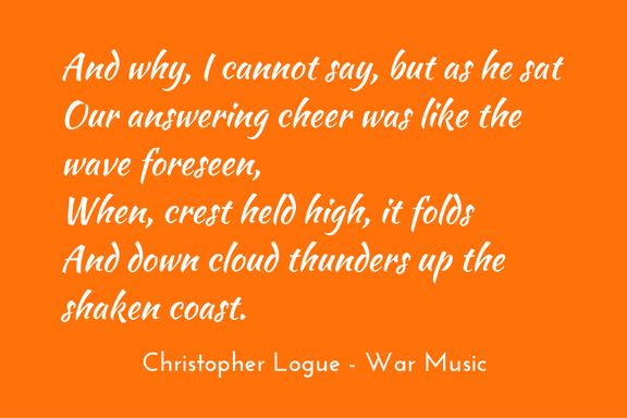 Christopher Logue - War Music - Homer - simile & metaphor