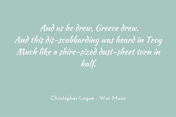 Christopher Logue - War Music - Homer