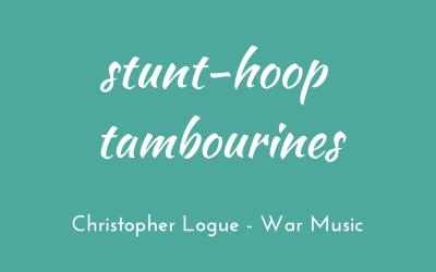 Stunt-hoop tambourines