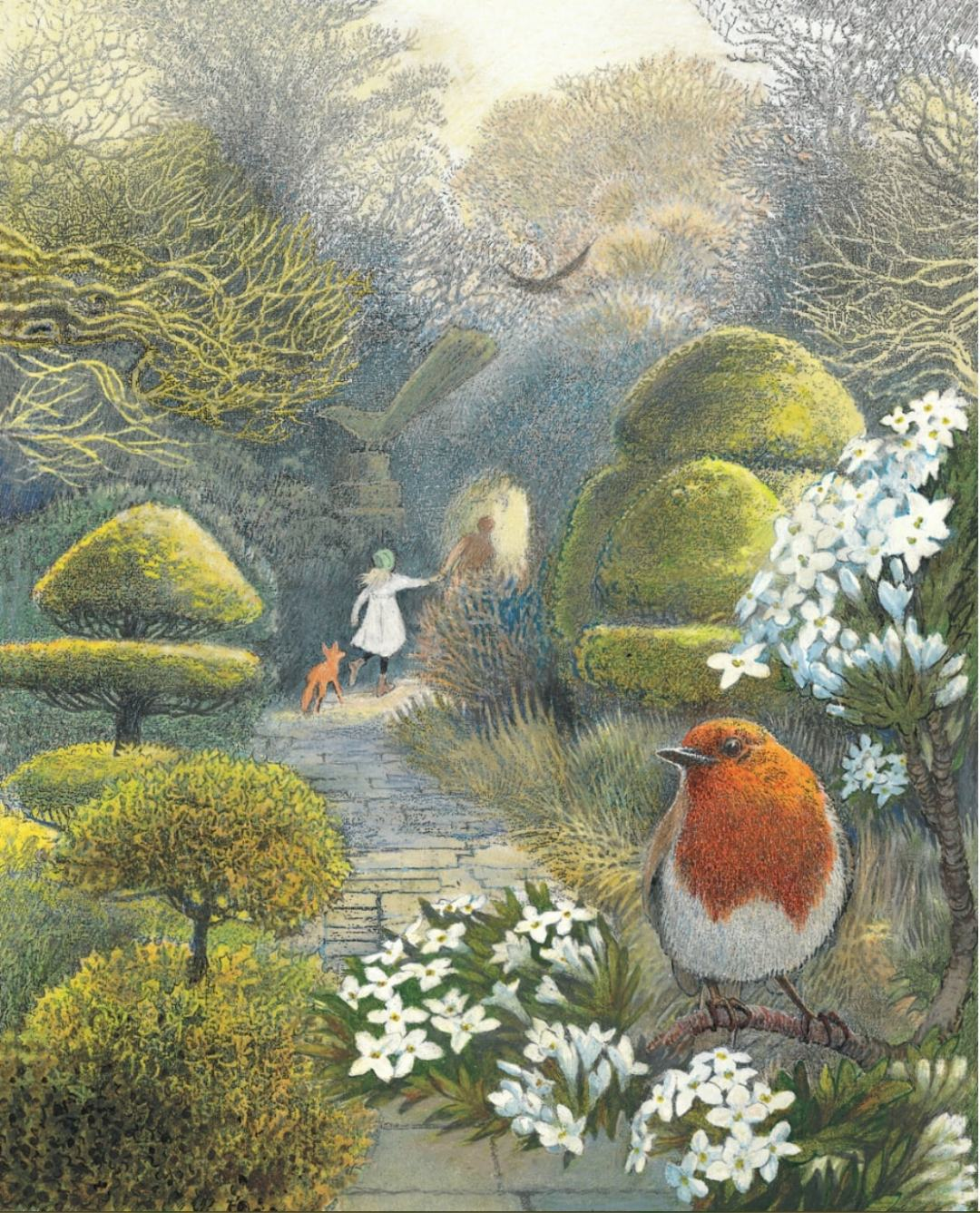 Image: The Secret Garden, Hodgson Burnett, illus. Inga Moore, Walker Books, 2009, frontispiece
