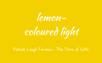 Lemon-coloured light