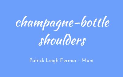 Champagne-bottle shoulders